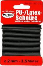 PU-Latex-Schnur schwarz 2mm Schmuckschnur 3,5m Kordel 937-79