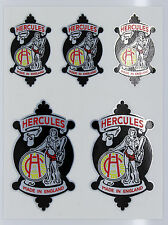 HERCULES Style Vintage Head Cycle Vélo Métallique Stickers