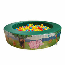 Implay Soft Play PVC Foam Children's Jungle Theme Round Ball Pool Activity Toy