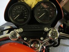 New British Made Freeway Bar Clock & Thermometer Set, Harley, Bike, Motorcycle