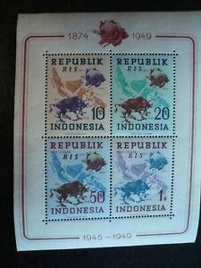 Stamps - Indonesia - Scott# 65c - Souvenir Sheet