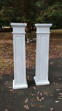 Pair Large Antique Architectural Pedestal Columns