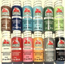 Apple Barrel Acrylic Matte 12 Paint Set Assorted Colors, 2 oz Like Essentials