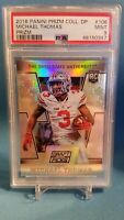 2016 Panini Prizm Draft Picks Michael Thomas RC #106 SILVER HOLO PSA 9 SSP 1/1