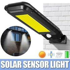 COB LED Street Light Solar Power Radar PIR Motion Sensor Waterproof Wall Lamp