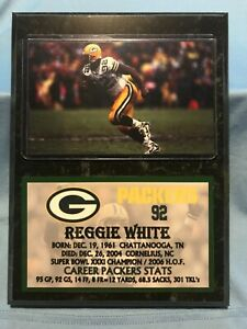 REGGIE WHITE  GREEN BAY PACKERS  SUBLIMATION PHOTO PLAQUE