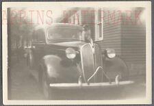 Vintage Car Photo Pet Cat on 1937 Plymouth Automobile 749327