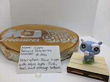 Littlest Pet Shop Blue Hippo #1850 Authentic LPS