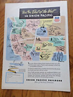 1948 Union Pacific Railroad Ad See the Best of the West via Union Pacific