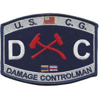 "Coast Guard Damage Controlman DC Rating Patch 4 1/2"" x 3 1/4"" Licensed"
