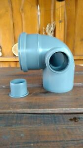 110mm Soil Pipe Elbow 90° with Right 50mm Inlet and Plug inspection Waste Grey