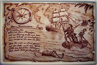 Beruf Seemann Seefahrer Blechschild Schild gewölbt Metal Tin Sign 20 x 30 cm