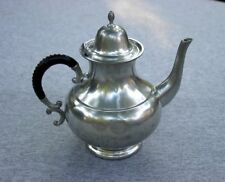 Kurz Tiel Holland C K Pewter Tea Pot Art Deco Black White Wrapped Woven Handle