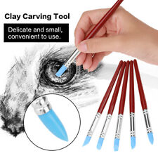 5pcs Rubber Tip Paint Silicon Brush Clay Sculpture Pottery Shaping Carving Tool