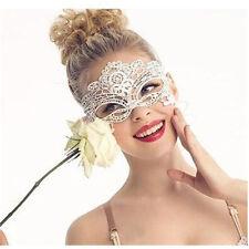 WHITE Lace Eye Mask Sexy Masquerade Ball Halloween  Fancy Dress Costume (341)