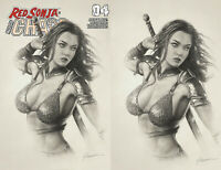 Red Sonja Age Of Chaos 4 Dynamite 2020 Shannon Maer Sketch Virgin Set Variant