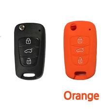 CAR KEY COVER SILICONE fits HYUNDAI i10 i20 i30 IX35 Elantra Accent Verna-Orange