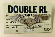 Double RL USA RRL Logo Double Wings Brass Brooch Breastpin Insignia Emblem Badge