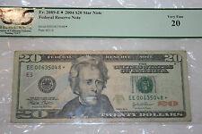 Fr. 2089-E*2004 $20 Star Note Very Fine 20