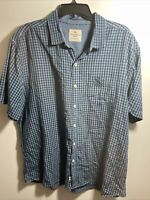 TOMMY BAHAMA JEANS MEN'S CHECK SHORT SLEEVE BUTTON FRONT SHIRT SIZE XL
