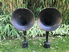 A pair of WESTERN ELECTRIC 10-D HORN TELEPHONE SPEAKER