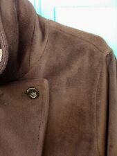 Max Mara 100% Virgin Wool Coat-Chocolate Brown Button Down Winter Coat-SZ 14