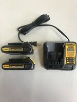New DEWALT DCB207 2 Pack 20V MAX DCB207-2 DCB107 Battery Charger DCB201 Replaces