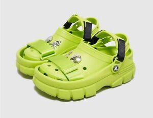 Crocs X SANKUANZ Classic Clog Green Collaboration Size 12M 2 in 1