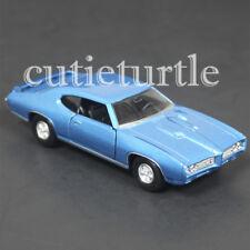 "4.5"" Welly 1969 Pontiac GTO Diecast Toy Car 43714D Blue"