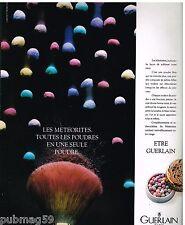 Publicité Advertising 1987 Cosmétique maquillage les Meteorites par Guerlain