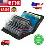 Secure Lock RFID Blocking Wallet Men Women Credit Card Holder Money Clip Wallets