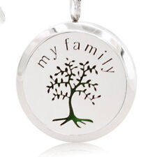 *My Family Tree, Diffuser Necklace Locket Stainless Still, 10ml Oil, 11 pads.
