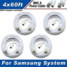 WHITE PREMIUM 240FT BNC CABLE FOR SAMSUNG SYSTEM SDH-C5100, SDH-B3040