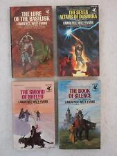 SIGNED Lawrence Watt-Evans FOUR FANTASY Del Rey Paperback First Printings!