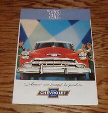 1952 Chevrolet Full Line Sales Brochure 52 Chevy Styleline De Luxe Bel Air