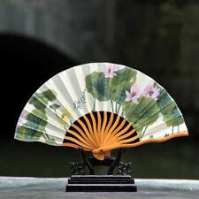 Expédié de Paris - Eventails Ete Japonaise Nippon Ancien Bambou Lotus Sacre Soie