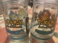 Welch's Pokemon Jelly Jar Cup Glass Charmander #04 1999 & Togepi # 2 1999 Used