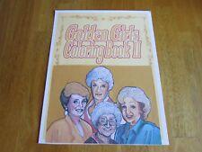 "New-Golden Girls Coloring Book II-Soft Cover-8.5""W x 11""L-Plastic Binging"