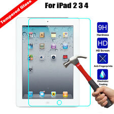 For Apple iPad 2 3 4 Tablet Tempered Glass Screen Protector Guard Anti-Scratch