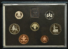 1987 UK United Kingdom British Royal Mint Proof 8 Coin Set w/Box & COA
