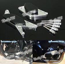 Engine Cover Guard Crash Pad Sliders Silver Fit 2001-2008 SUZUKI GSXR GSX-R 1000