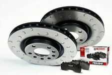 Rear Grooved Brake Discs and Ferodo Pads to fit Mitsubishi Evo 5 6 7 8 9