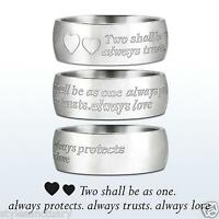 Silver Wedding Ring Engagement Band Eternity Mens Ladies Womens Love Commitment