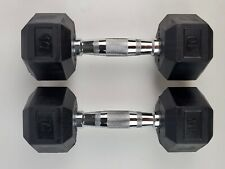 Pair Weider 10lb. Dumbbells Weights Rubber Hex New 20 lbs total Ships Quick