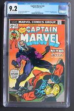CAPTAIN MARVEL #34 1st NITRO Killer of Mar-Vell THANOS 1974 Starlin CGC NM 9.2