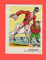 1978  27  Plastic Man  DC Super Hero Stickers Food Issue No Logo Rare