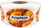 Pumpkin Grocery Market Food Stickers, 1.25 x 2 Inches, 500 Labels on a Roll