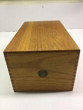 Wooden Recipe Boxes Ebay