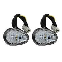 2x Clear Shell Amber LED Turn Signal Indicator Light For Yamaha YZF R1 R6 R6S