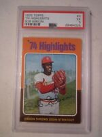 1975 BOB GIBSON #3 TOPPS BASEBALL CARD - PSA GRADED 5 EX - TUB BBA-8